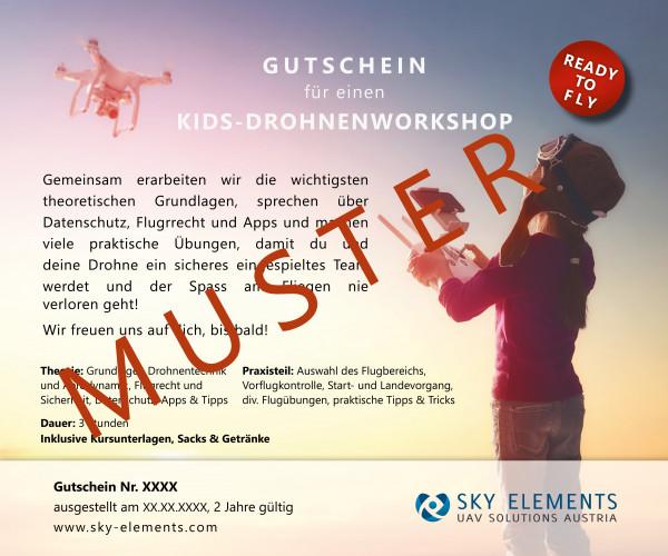 Gutschein Einzelkurs Drohnenworkshop für Kids