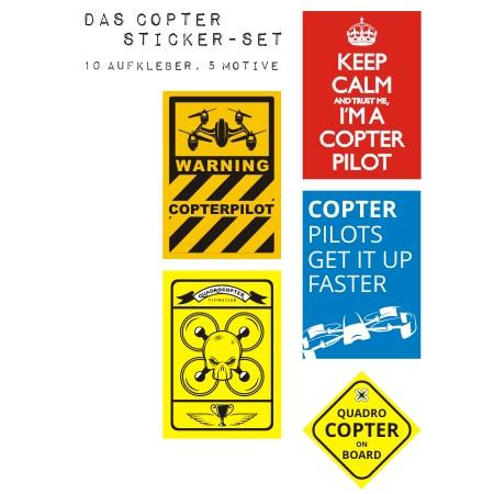 Drohnen Aufkleber Set Vol. I
