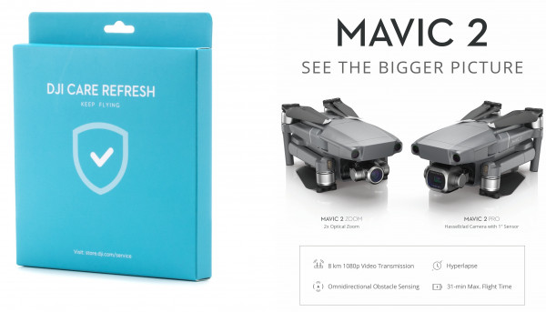 DJI Care Refresh Mavic 2 PRO & ZOOM Aktivierungscode 12 Monate